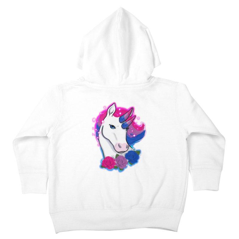 Bisexual Pride Unicorn Kids Toddler Zip-Up Hoody by Animegravy's Artist Shop