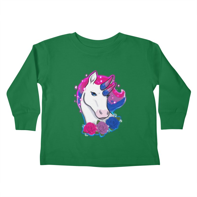 Bisexual Pride Unicorn Kids Toddler Longsleeve T-Shirt by AnimeGravy