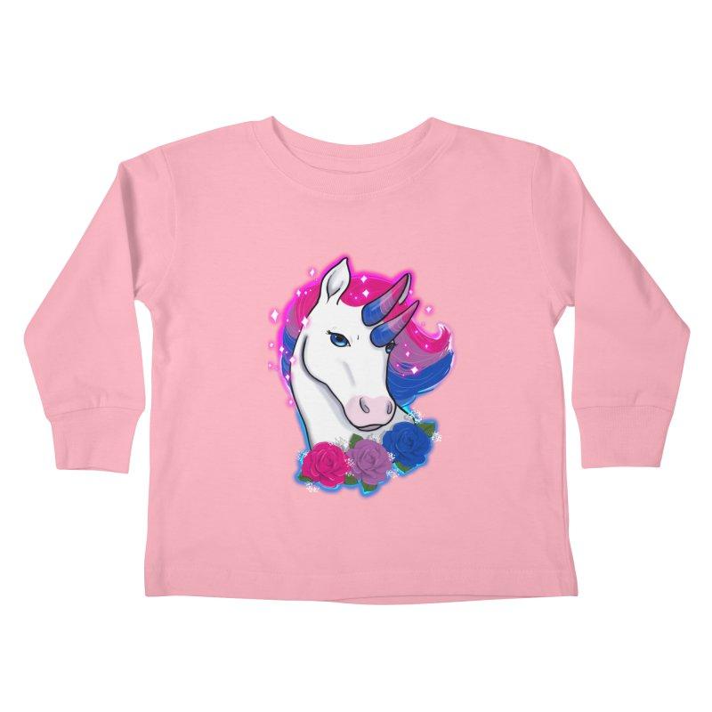 Bisexual Pride Unicorn Kids Toddler Longsleeve T-Shirt by AnimeGravy
