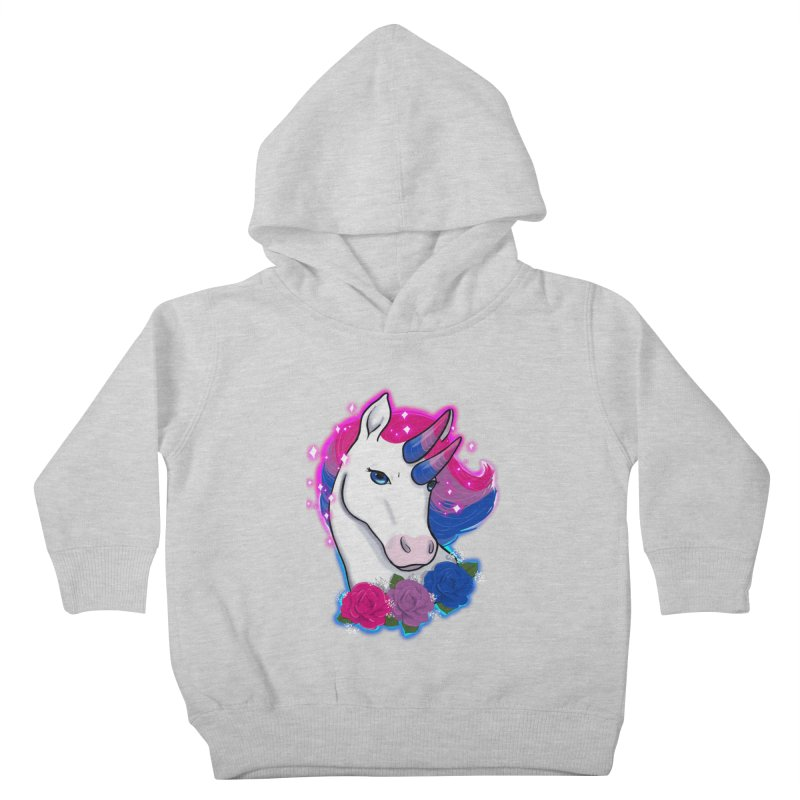Bisexual Pride Unicorn Kids Toddler Pullover Hoody by AnimeGravy