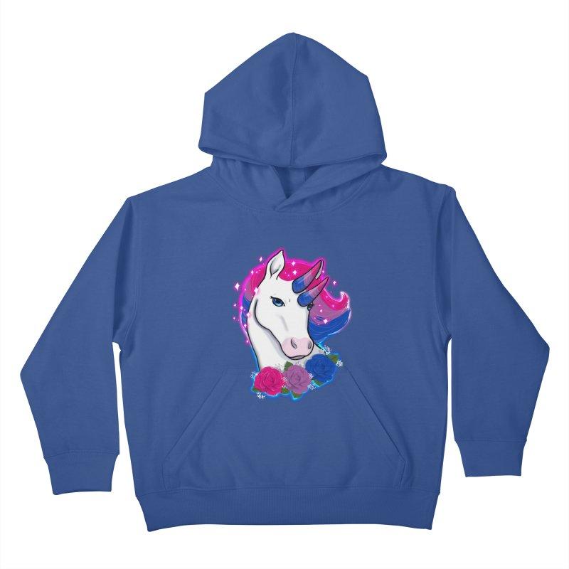 Bisexual Pride Unicorn Kids Pullover Hoody by AnimeGravy
