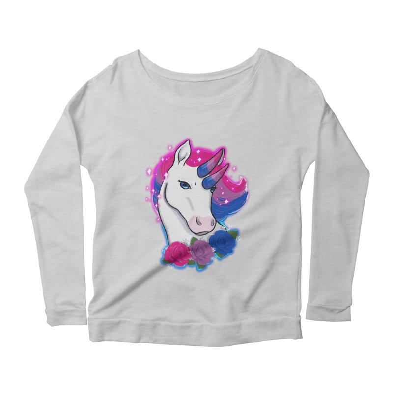 Bisexual Pride Unicorn Women's Scoop Neck Longsleeve T-Shirt by AnimeGravy