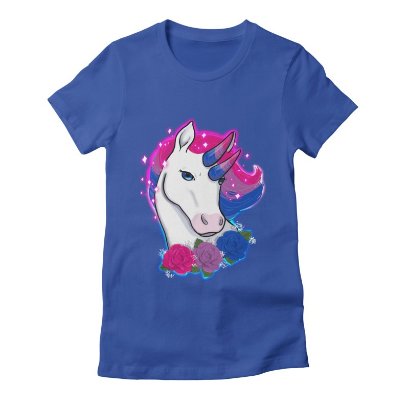 Bisexual Pride Unicorn Women's Fitted T-Shirt by AnimeGravy