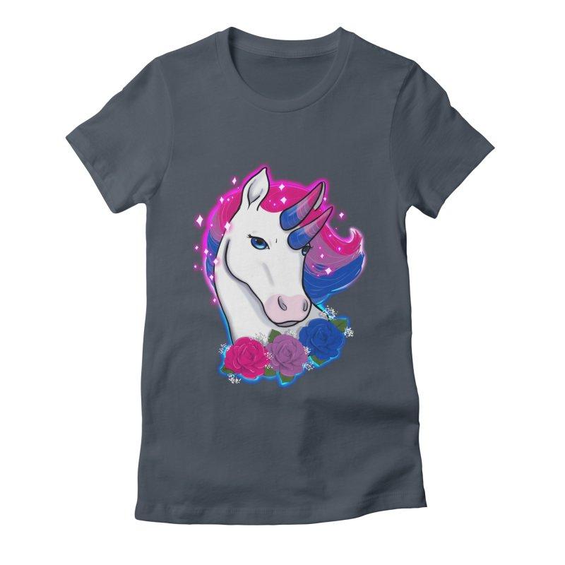 Bisexual Pride Unicorn Women's T-Shirt by AnimeGravy