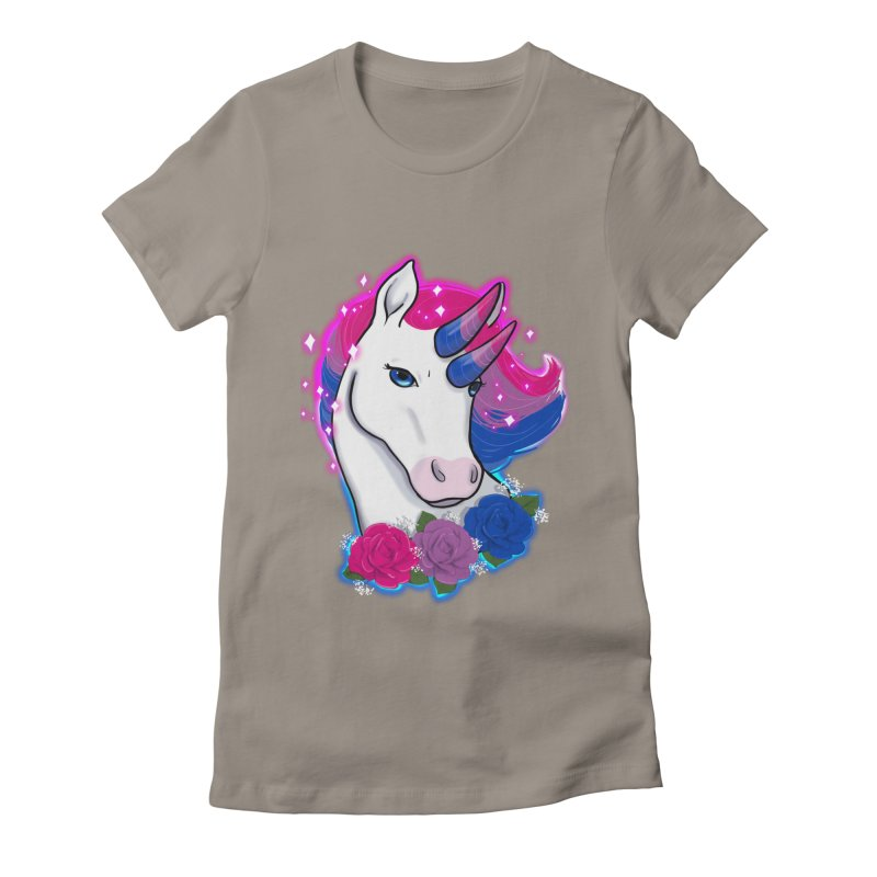 Bisexual Pride Unicorn Women's Fitted T-Shirt by Animegravy's Artist Shop