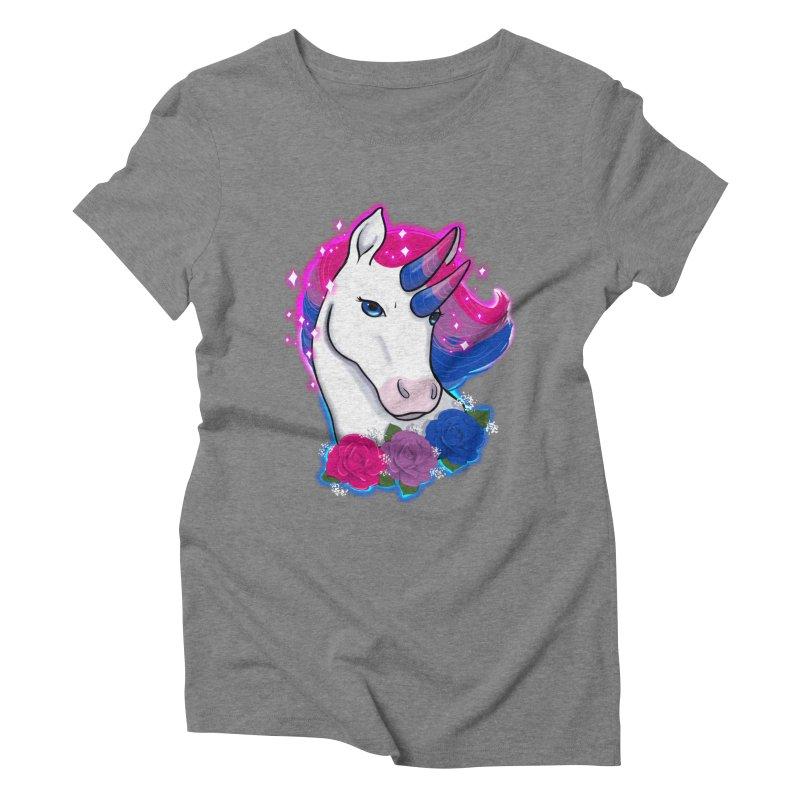 Bisexual Pride Unicorn Women's Triblend T-Shirt by Animegravy's Artist Shop