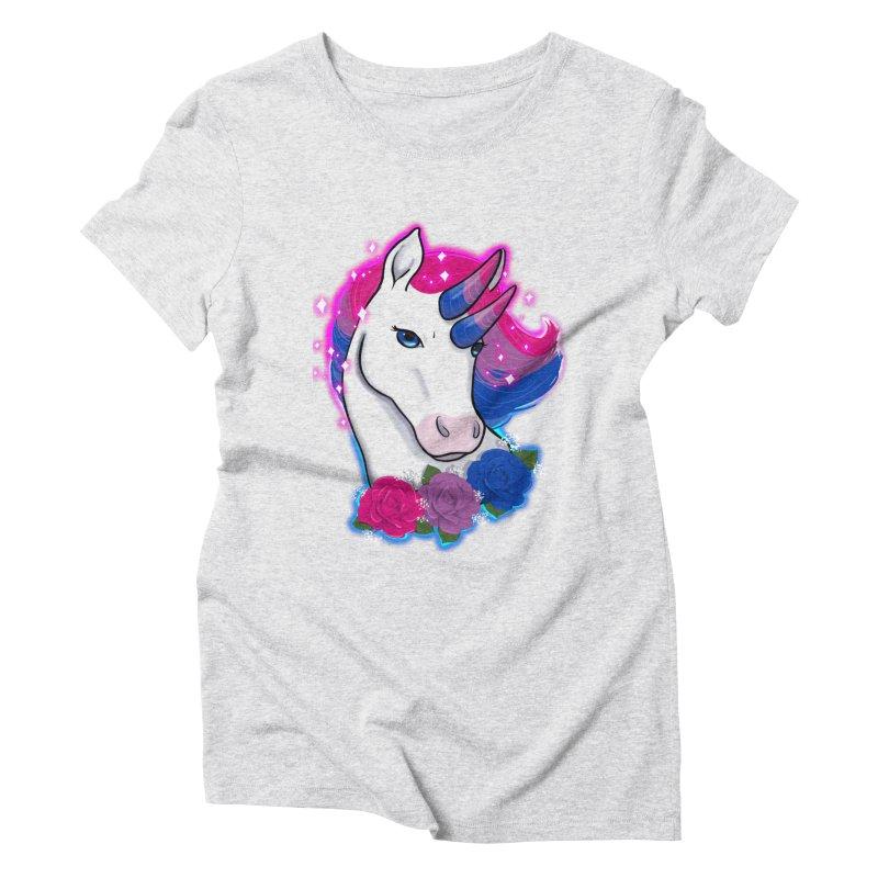 Bisexual Pride Unicorn Women's Triblend T-Shirt by AnimeGravy