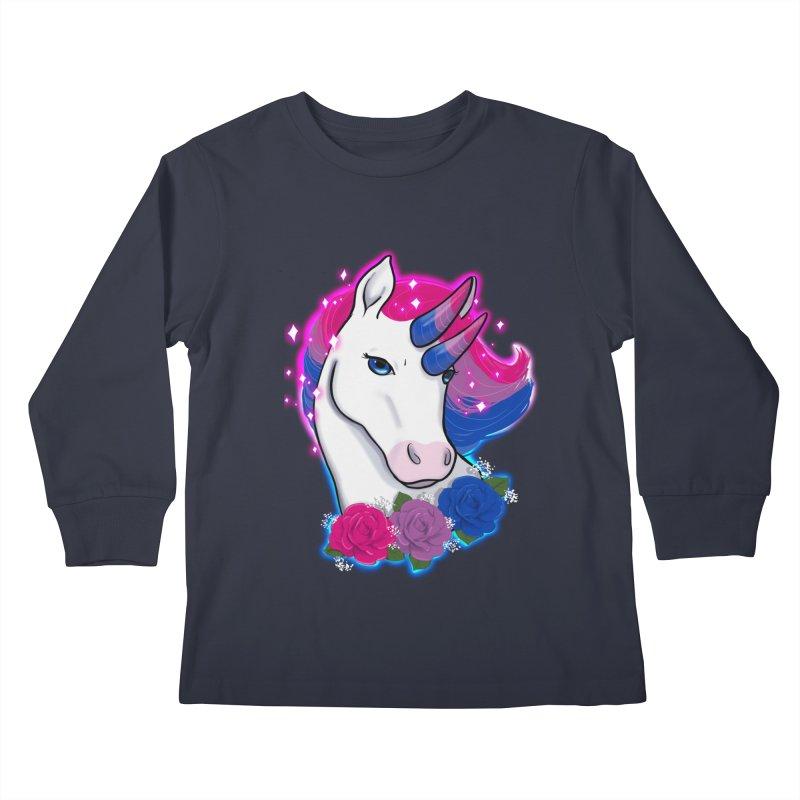 Bisexual Pride Unicorn Kids Longsleeve T-Shirt by Animegravy's Artist Shop