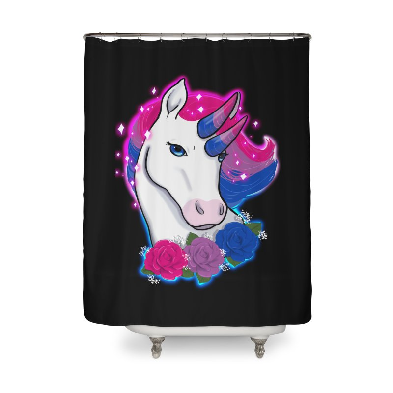 Bisexual Pride Unicorn Home Shower Curtain by AnimeGravy
