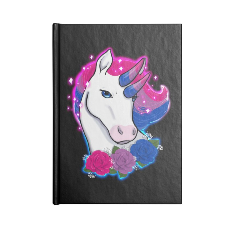 Bisexual Pride Unicorn Accessories Blank Journal Notebook by AnimeGravy