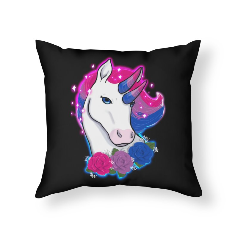 Bisexual Pride Unicorn Home Throw Pillow by AnimeGravy