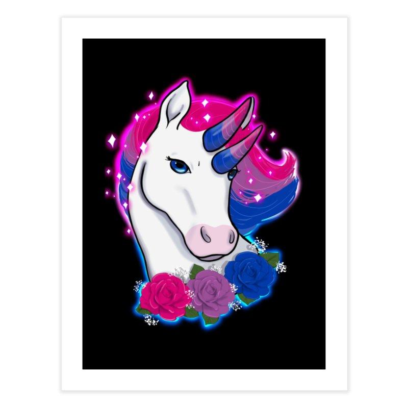 Bisexual Pride Unicorn Home Fine Art Print by AnimeGravy