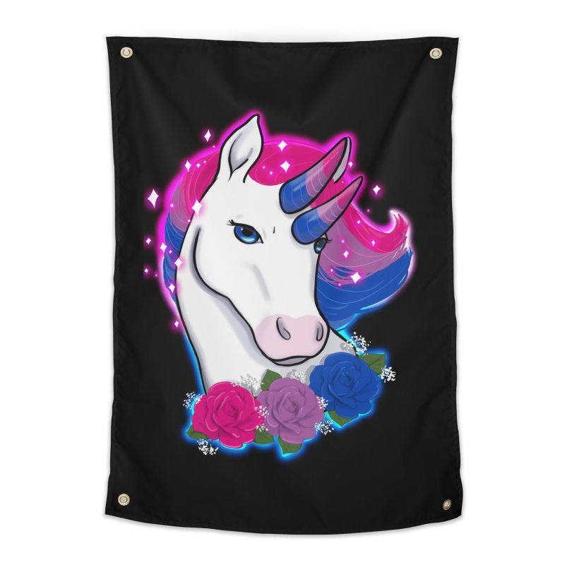 Bisexual Pride Unicorn Home Tapestry by AnimeGravy