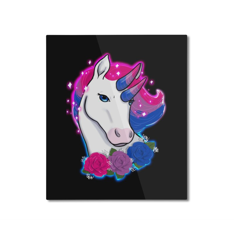 Bisexual Pride Unicorn Home Mounted Aluminum Print by AnimeGravy