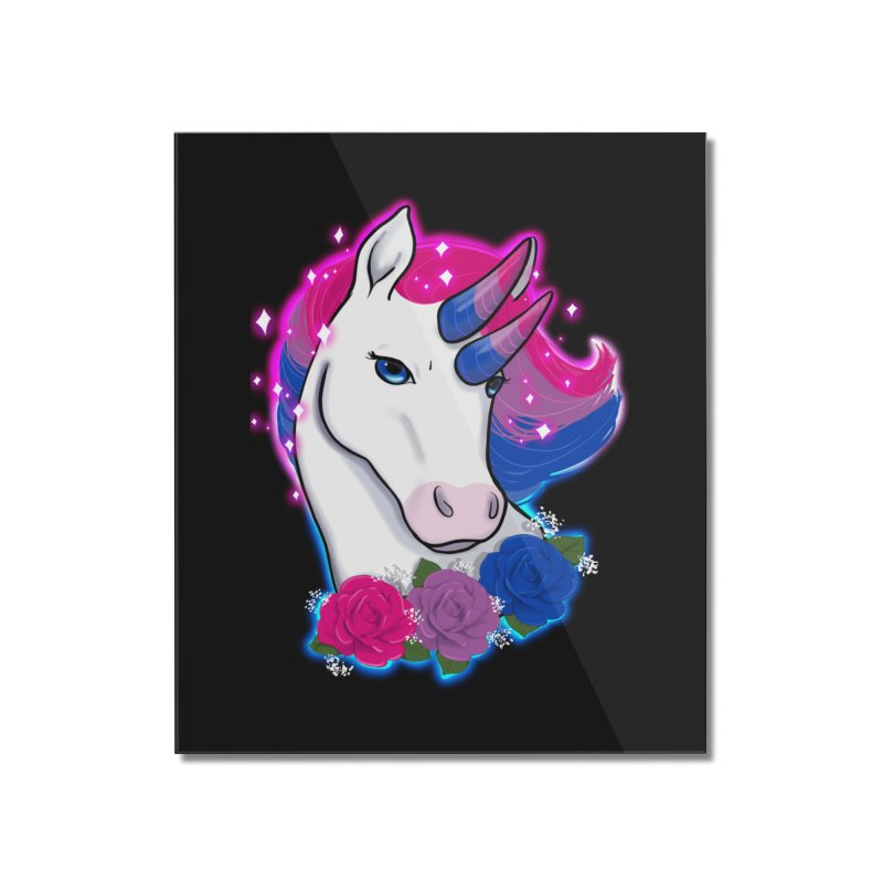 Bisexual Pride Unicorn Home Mounted Acrylic Print by AnimeGravy