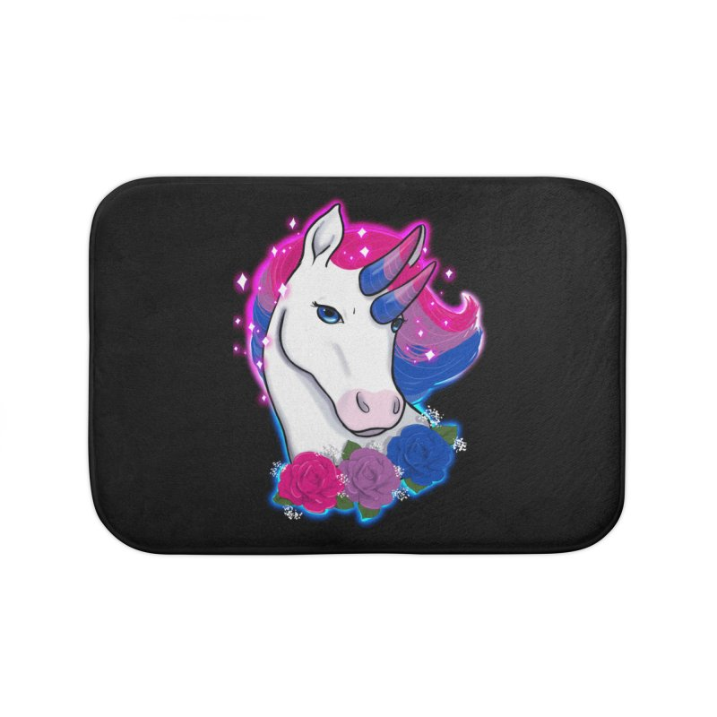 Bisexual Pride Unicorn Home Bath Mat by AnimeGravy