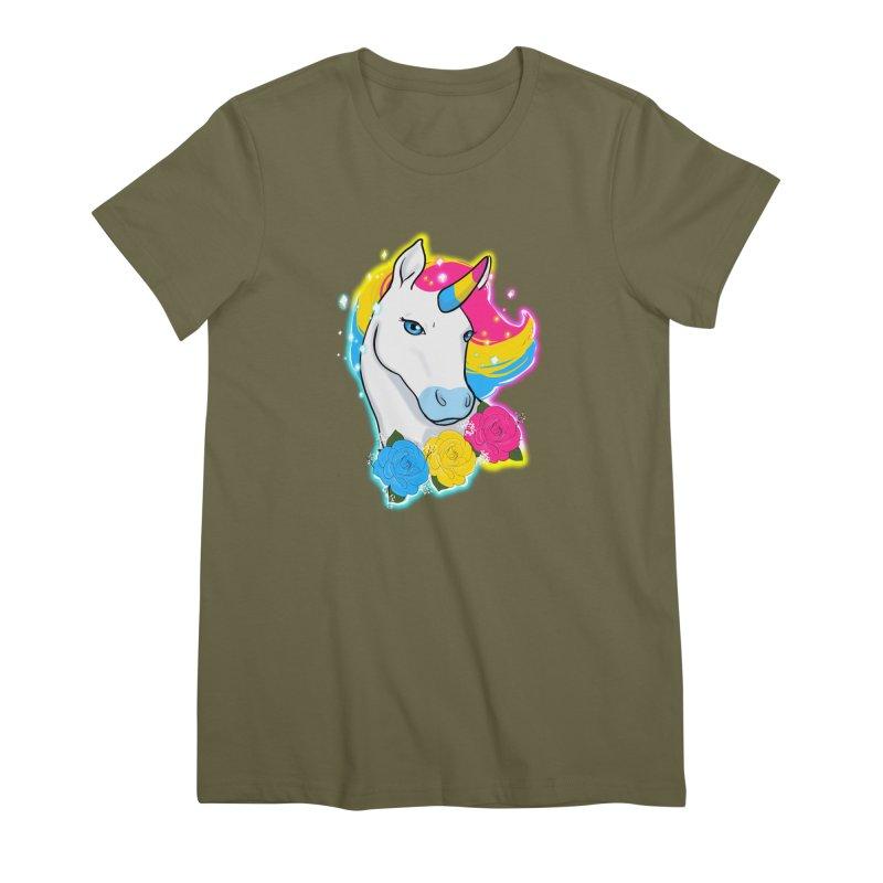 Pansexual pride unicorn Women's Premium T-Shirt by AnimeGravy