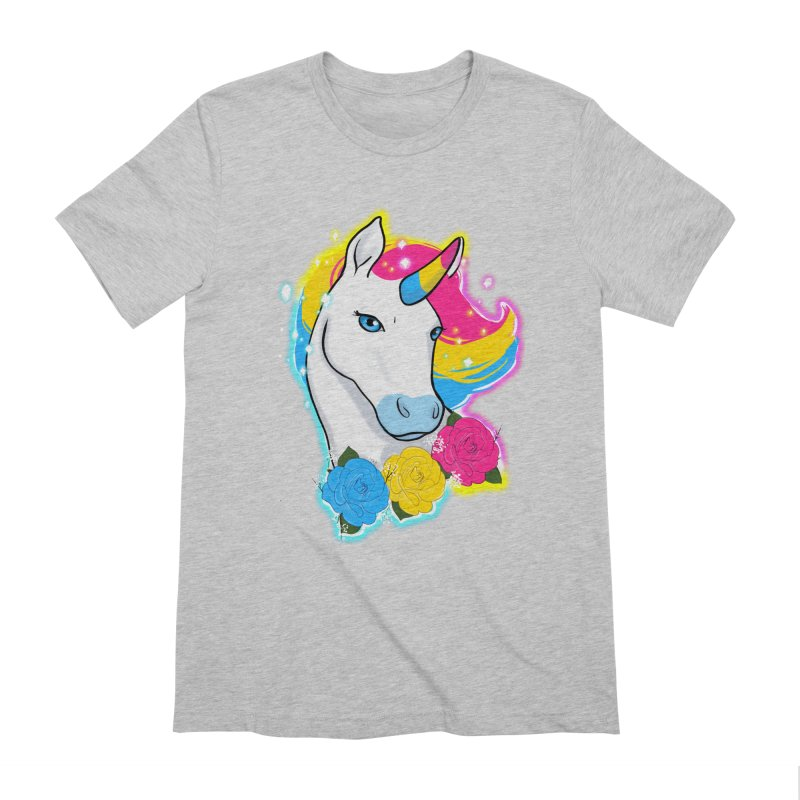 Pansexual pride unicorn Men's Extra Soft T-Shirt by AnimeGravy