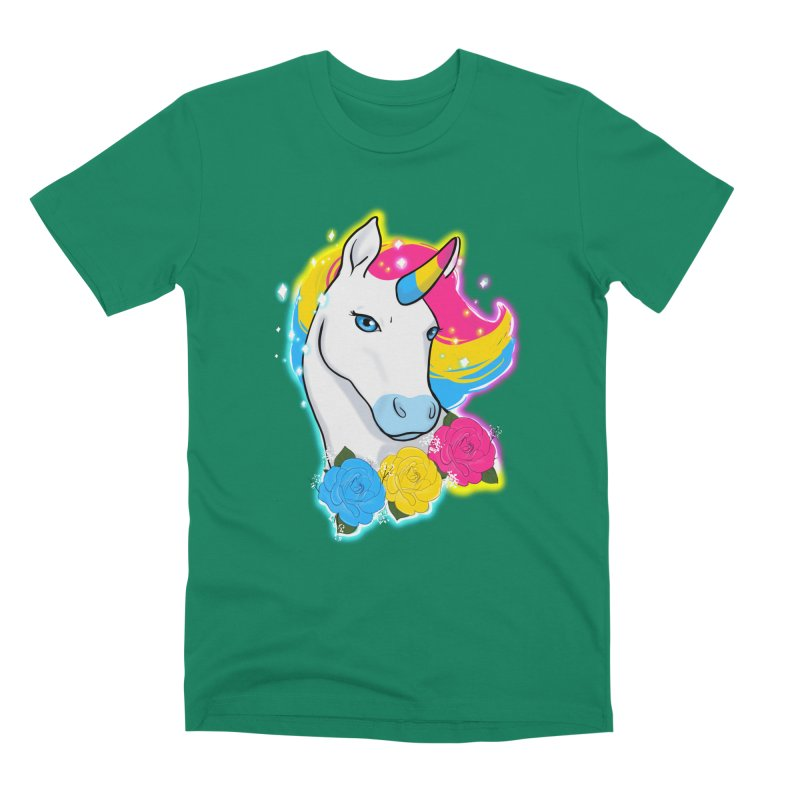 Pansexual pride unicorn Men's Premium T-Shirt by AnimeGravy