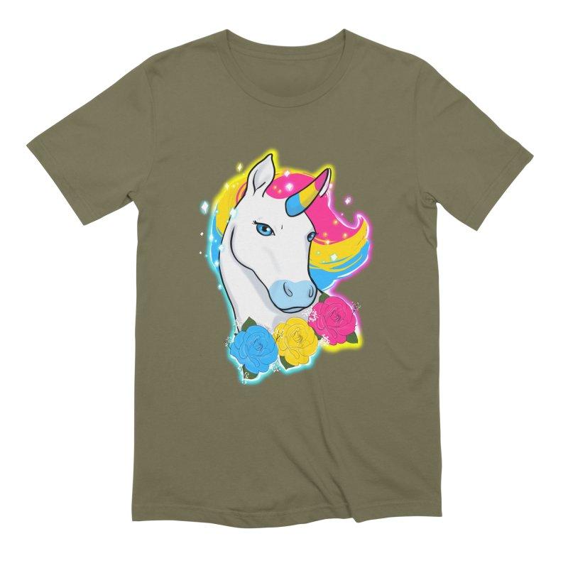 Pansexual pride unicorn Men's Extra Soft T-Shirt by AnimeGravy