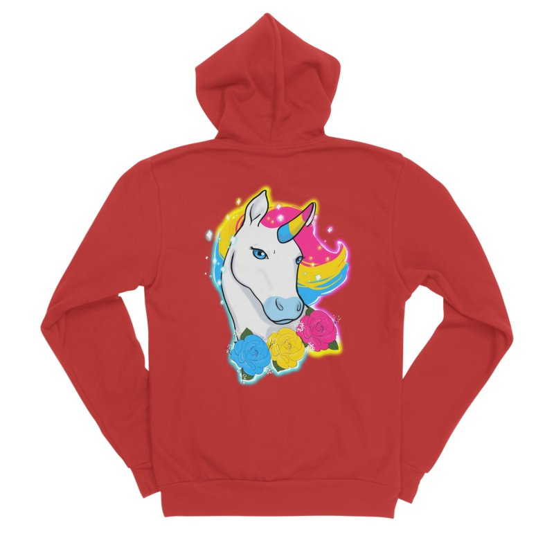 Pansexual pride unicorn Men's Zip-Up Hoody by AnimeGravy