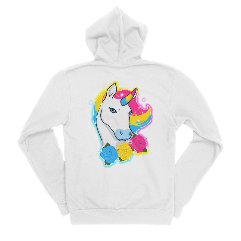 Pansexual pride unicorn Women's Sponge Fleece Zip-Up Hoody by AnimeGravy