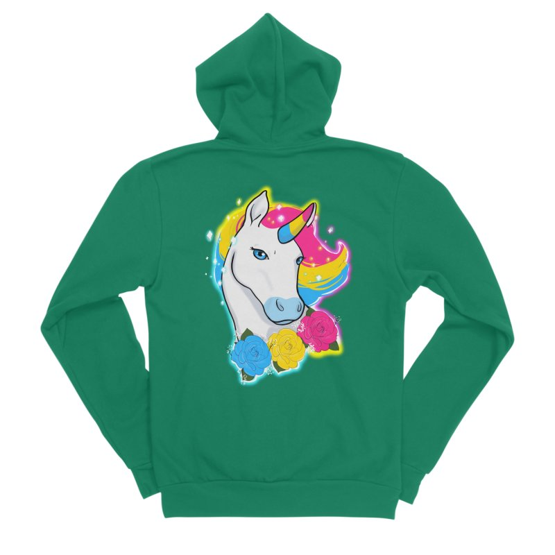 Pansexual pride unicorn Men's Sponge Fleece Zip-Up Hoody by AnimeGravy