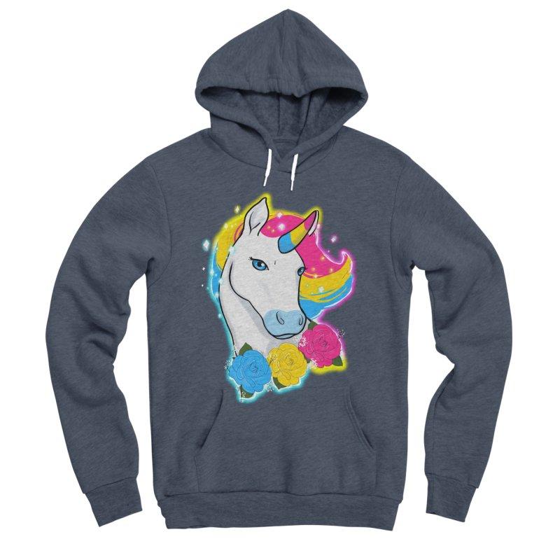 Pansexual pride unicorn Men's Sponge Fleece Pullover Hoody by AnimeGravy