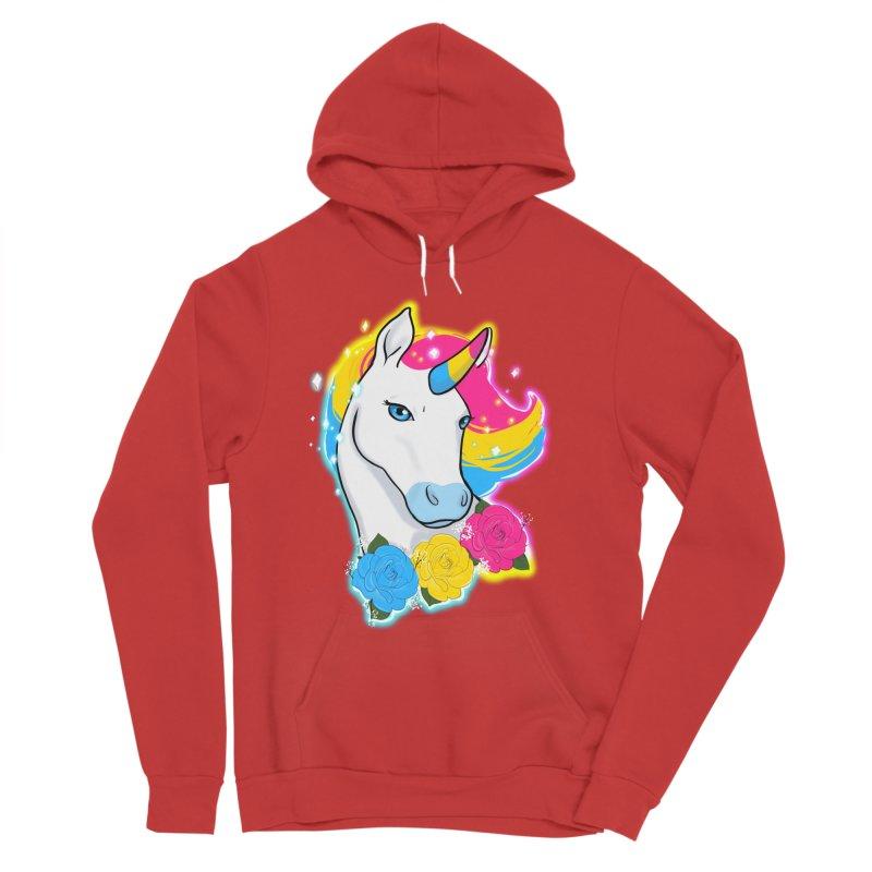 Pansexual pride unicorn Women's Sponge Fleece Pullover Hoody by AnimeGravy