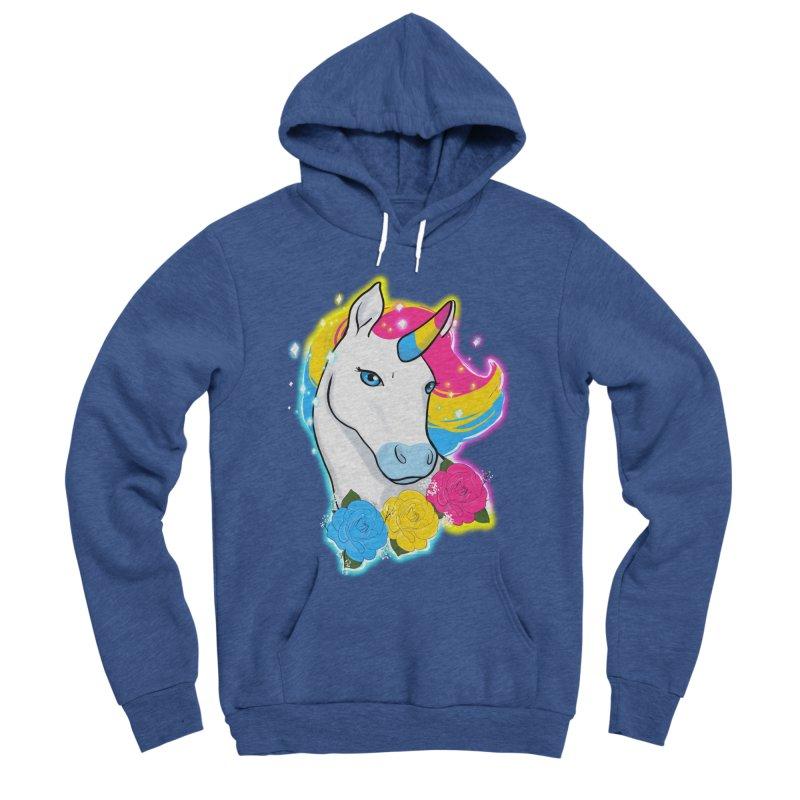 Pansexual pride unicorn Women's Sponge Fleece Pullover Hoody by Animegravy's Artist Shop