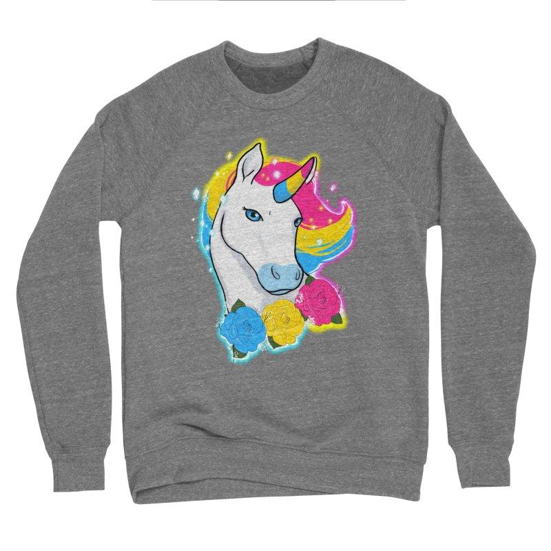 Pansexual pride unicorn Men's Sponge Fleece Sweatshirt by AnimeGravy