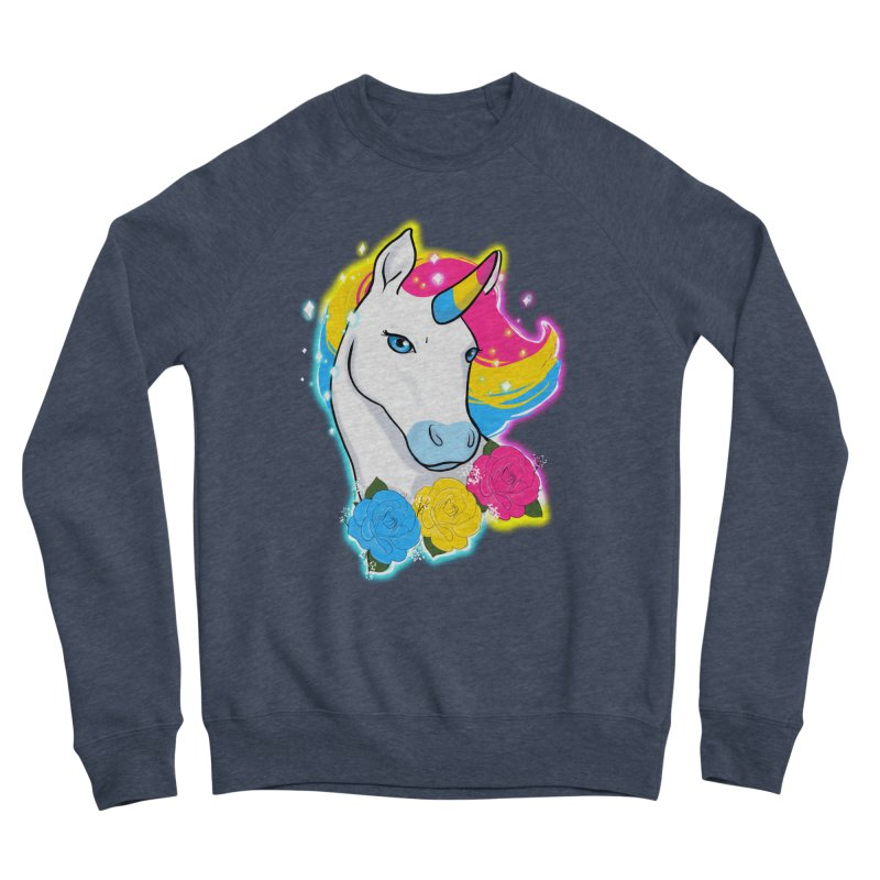 Pansexual pride unicorn Women's Sponge Fleece Sweatshirt by AnimeGravy