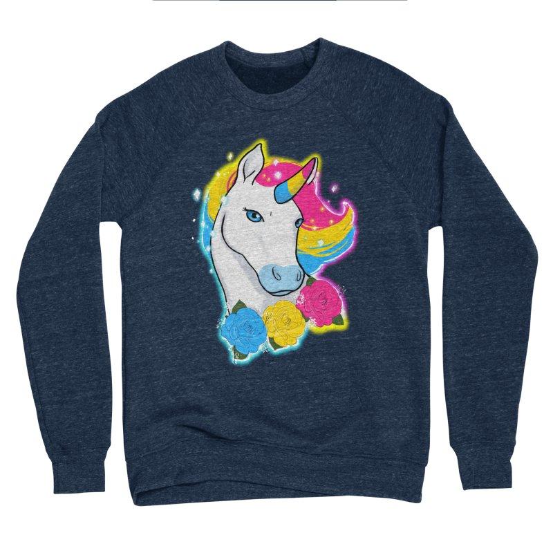 Pansexual pride unicorn Men's Sponge Fleece Sweatshirt by Animegravy's Artist Shop