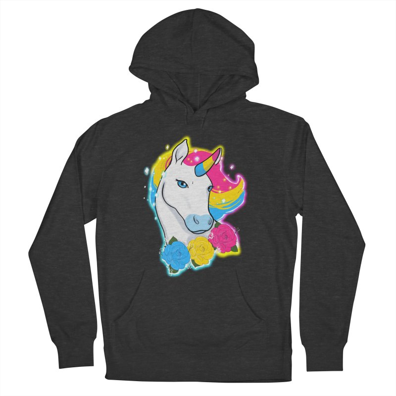 Pansexual pride unicorn Women's French Terry Pullover Hoody by Animegravy's Artist Shop