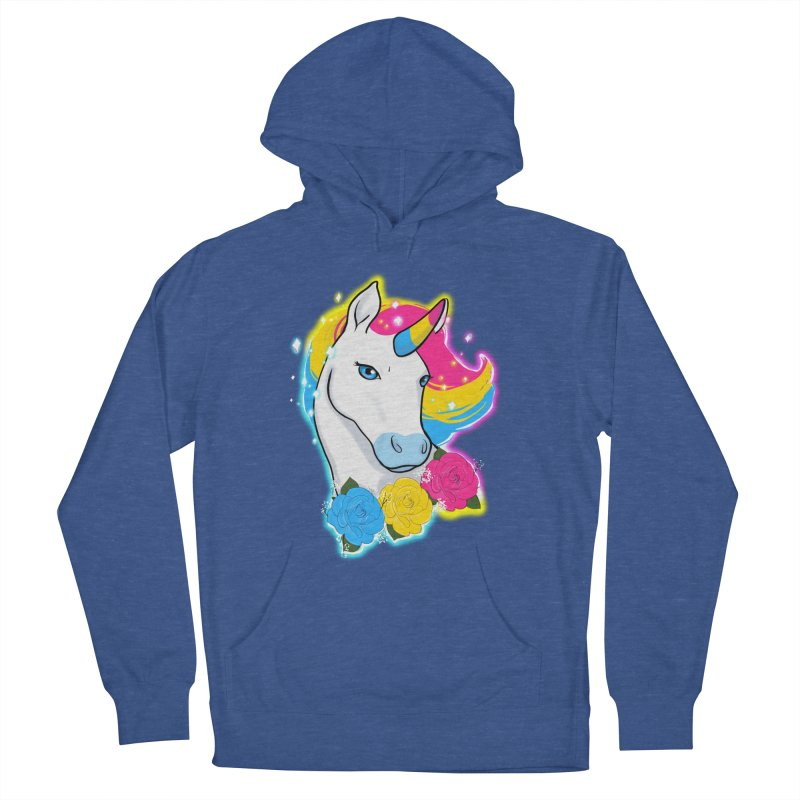 Pansexual pride unicorn Women's French Terry Pullover Hoody by AnimeGravy