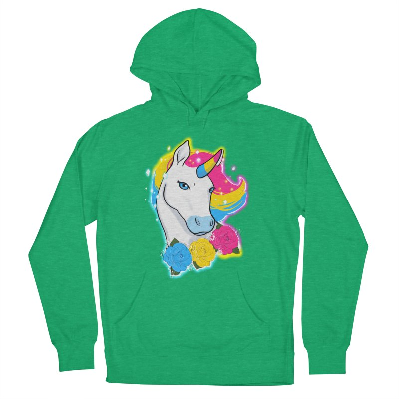 Pansexual pride unicorn Men's French Terry Pullover Hoody by AnimeGravy