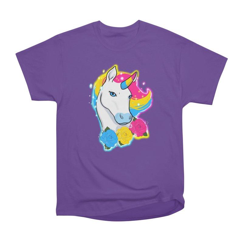 Pansexual pride unicorn Women's Heavyweight Unisex T-Shirt by AnimeGravy