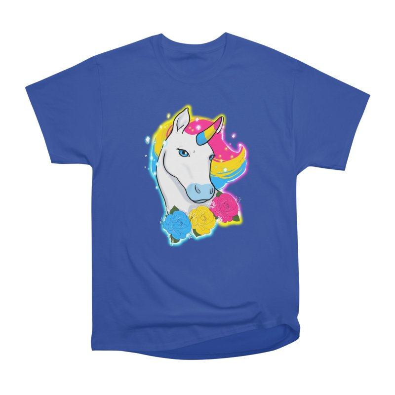 Pansexual pride unicorn Men's Heavyweight T-Shirt by AnimeGravy