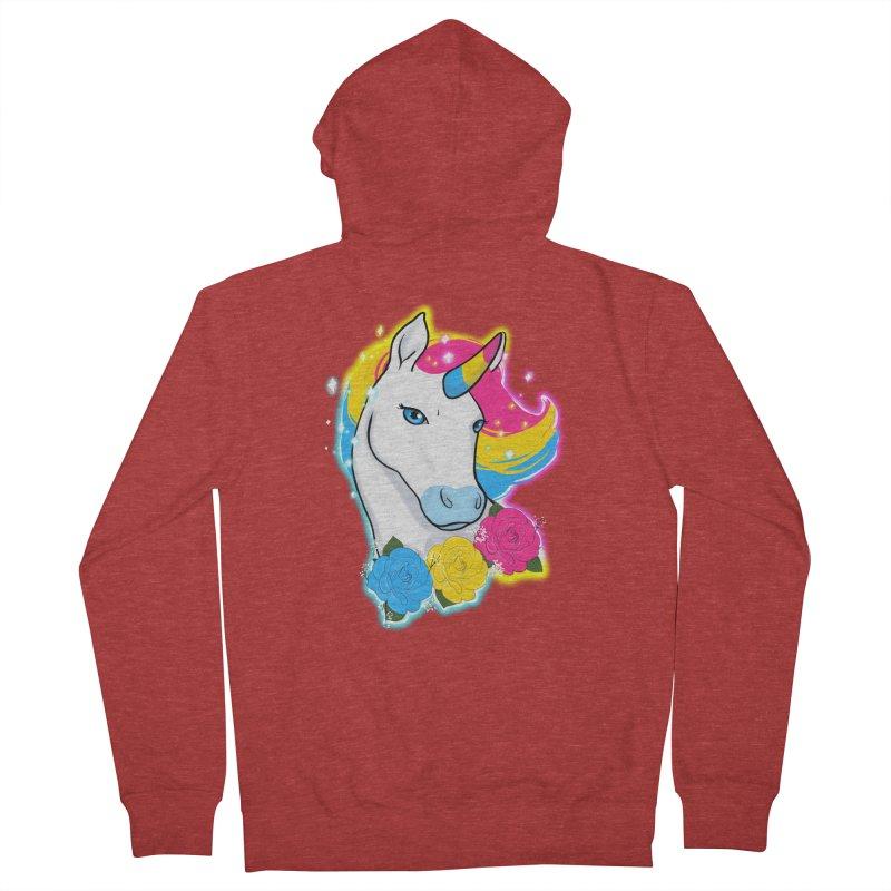 Pansexual pride unicorn Women's French Terry Zip-Up Hoody by AnimeGravy