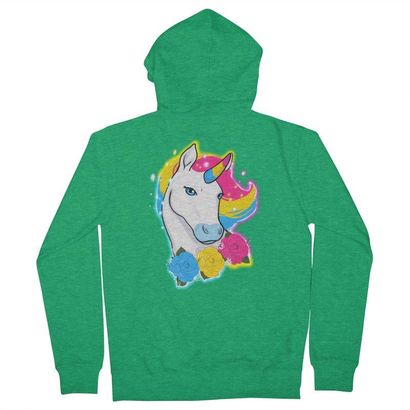 Pansexual pride unicorn Men's French Terry Zip-Up Hoody by AnimeGravy