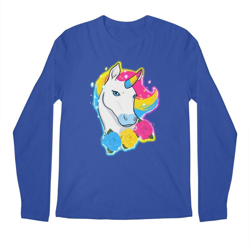 Pansexual pride unicorn Men's Regular Longsleeve T-Shirt by AnimeGravy