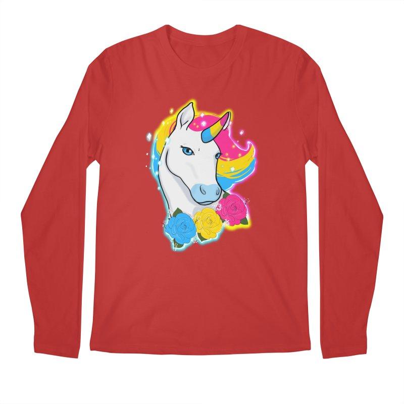Pansexual pride unicorn Men's Regular Longsleeve T-Shirt by Animegravy's Artist Shop