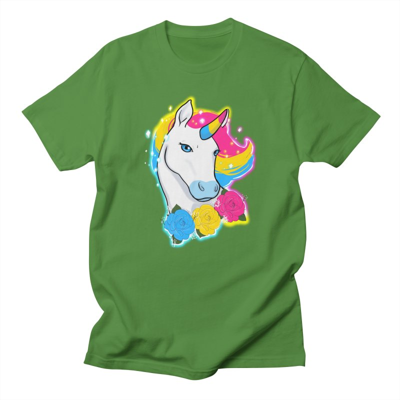 Pansexual pride unicorn Men's Regular T-Shirt by AnimeGravy