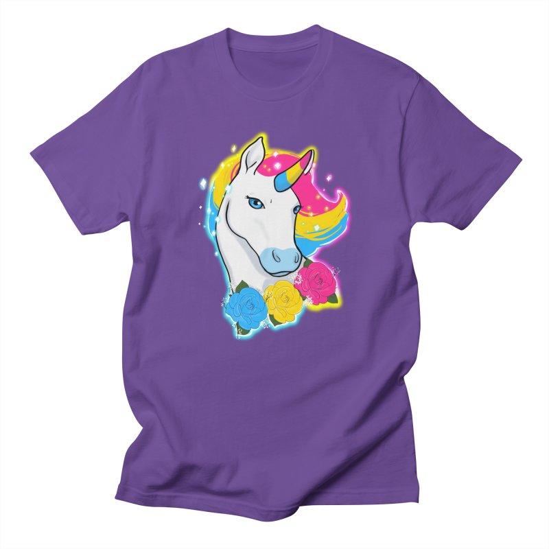 Pansexual pride unicorn Men's Regular T-Shirt by AnimeGravy