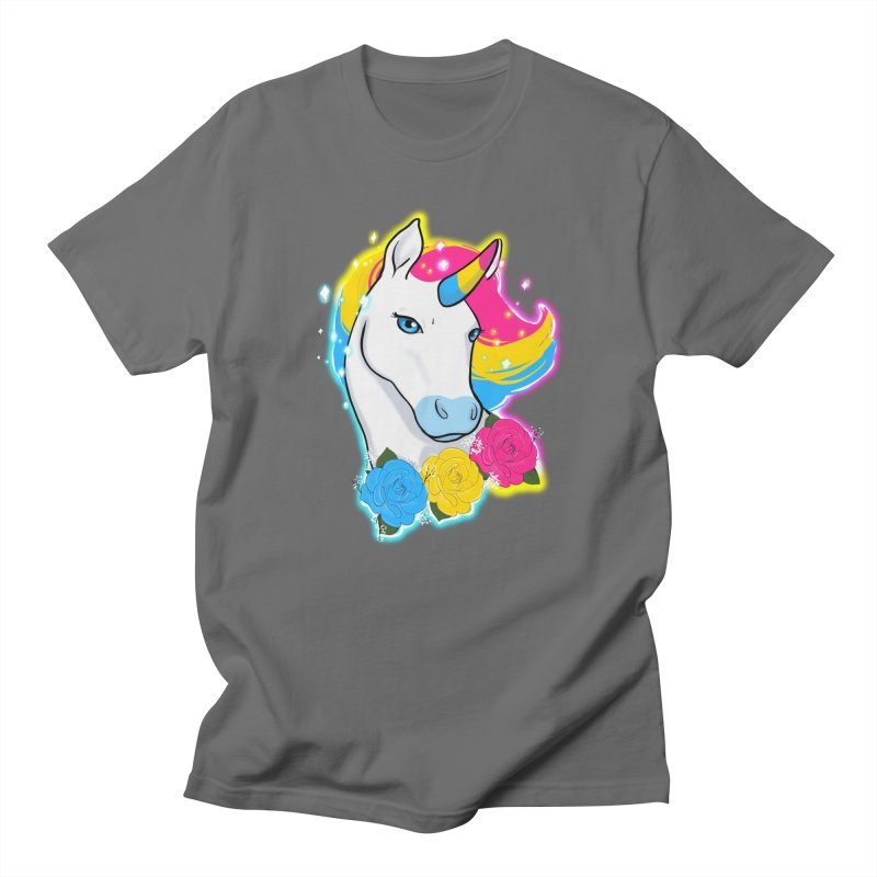 Pansexual pride unicorn Men's T-Shirt by AnimeGravy