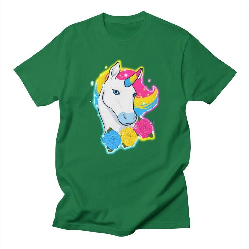 Pansexual pride unicorn Women's Regular Unisex T-Shirt by AnimeGravy