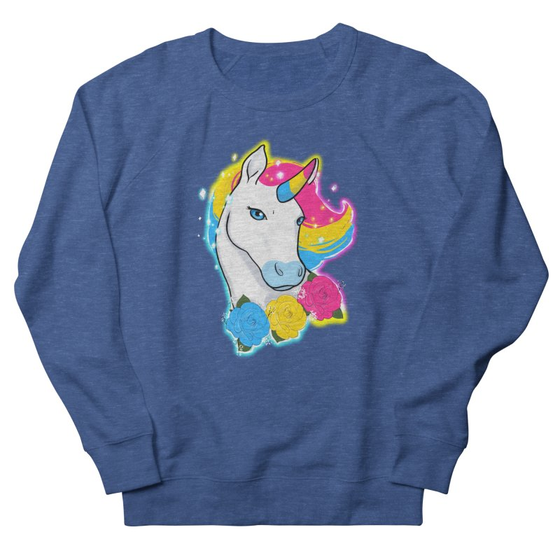Pansexual pride unicorn Women's French Terry Sweatshirt by AnimeGravy