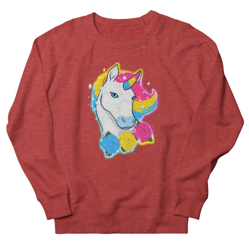 Pansexual pride unicorn Women's French Terry Sweatshirt by Animegravy's Artist Shop