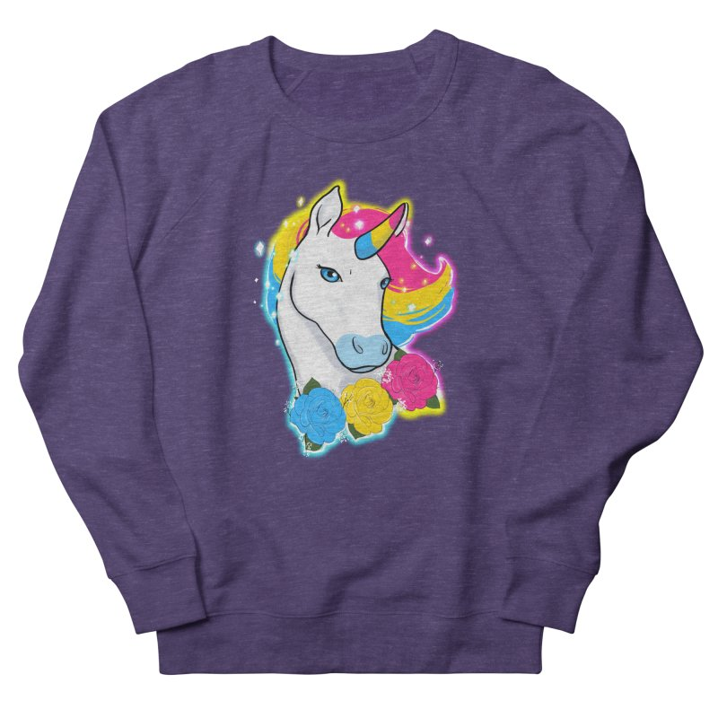 Pansexual pride unicorn Men's French Terry Sweatshirt by AnimeGravy