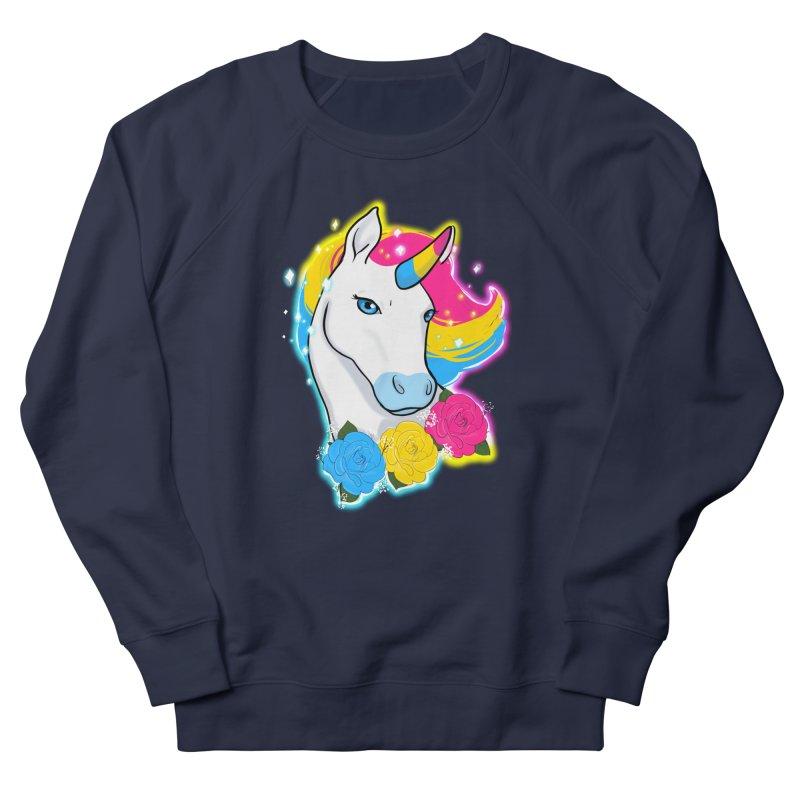 Pansexual pride unicorn Men's French Terry Sweatshirt by Animegravy's Artist Shop